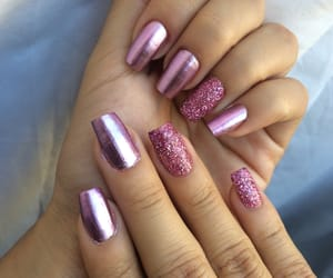 girly, glitter, and pink image