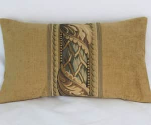 etsy, 12 x 20 lumbar throw, and gold chenille image