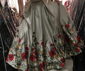 fashion, floral, and green image
