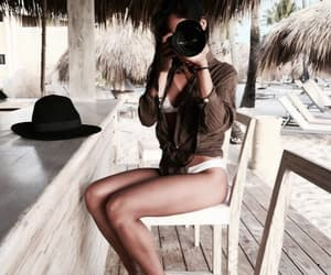 beach, models beauty, and casual style image