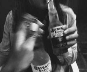 black and white, cheers, and corona image