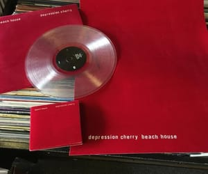 music, red, and aesthetic image