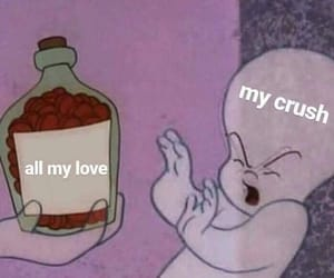 meme, love, and crush image