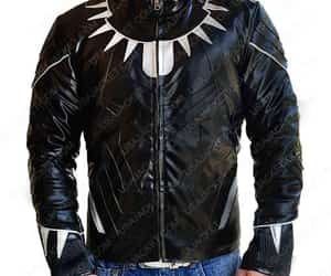 black panther, cinema, and real leather jacket image