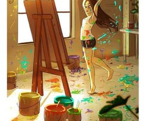 art, colors, and artist image