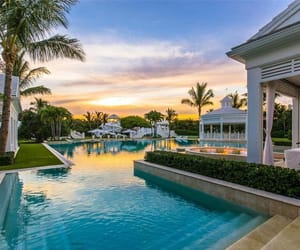 pool, house, and dream house image