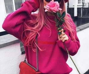 clothes, pink hair, and rose image