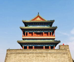 architecture, beijing, and iphone photography image