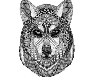 art, wolf, and zentagle image
