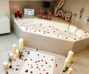 love, bathroom, and romantic image