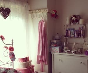girly, room interior, and floral candles image