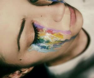 colors, creative, and tears image
