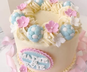 cake, girly, and flowers image