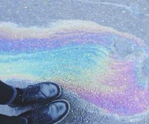 rainbow, grunge, and shoes image