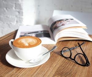 coffee, book, and food image