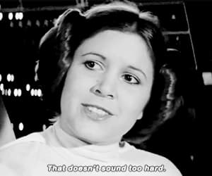badass, carrie fisher, and gif image