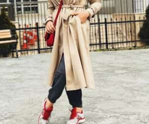 hijab and trench coat image