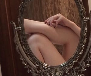 mirror, legs, and art image