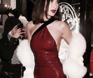 aesthetic, red, and bella hadid image