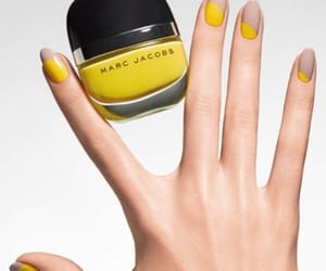 nails, yellow, and marc jacobs image