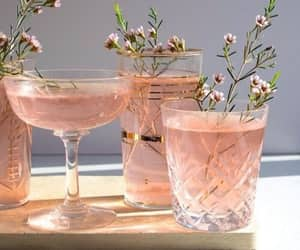 pink, drink, and flowers image