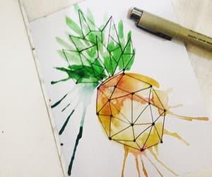 art, pinapple watercolor, and watercolor image