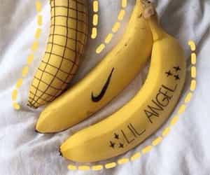 yellow, banana, and nike image