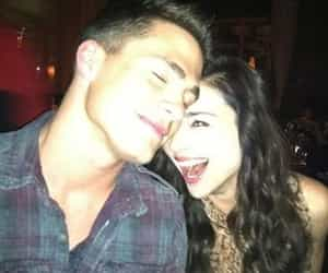 colton haynes, crystal reed, and teen wolf image