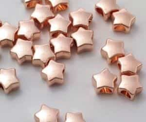 stars, rose gold, and gold image