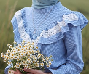 allah, blue, and chamomile image