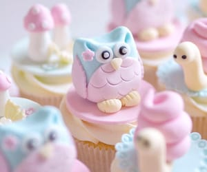 animals, cupcakes, and forest image