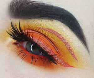 cosmetics, eyes, and funky image