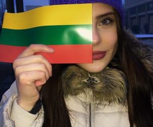 girl, Lithuania, and lithuanian flag image