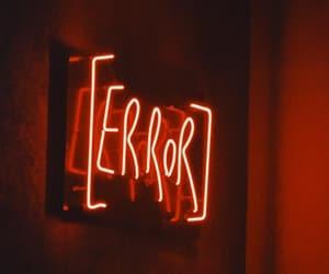 aesthetic, error, and neon image