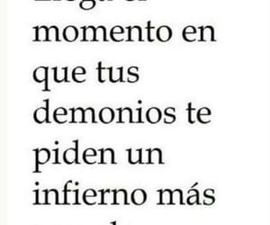 demonios, frases, and infierno image