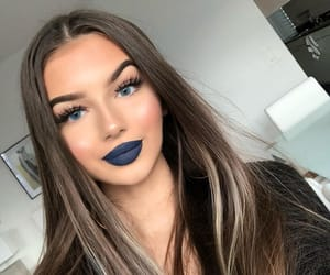pretty girl, beautiful lady, and perfect makeup image