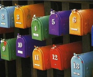 colorful, mailbox, and numbers image