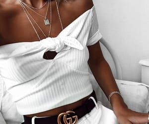 gucci, white, and tanned girl image