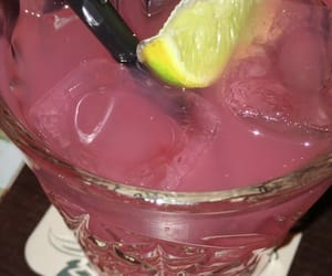 cocktail, pink, and yellow image