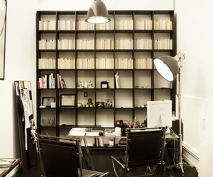bookcase, alexander wang, and apartment image