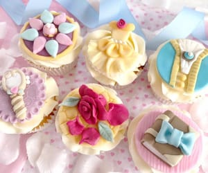 beauty and the beast, cute, and cupcakes image