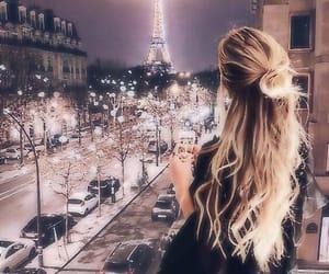 girl, paris, and light image