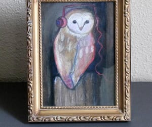 art, original art, and owl image