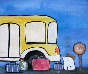 art, nursery art, and childrens painting image