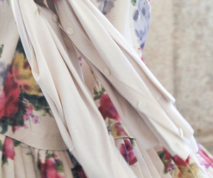 floral, pretty, and skirt image