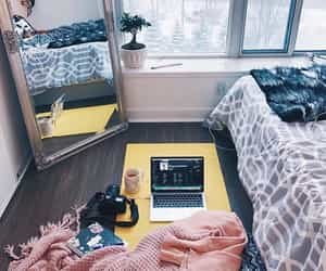 bedroom, cosy, and yoga image