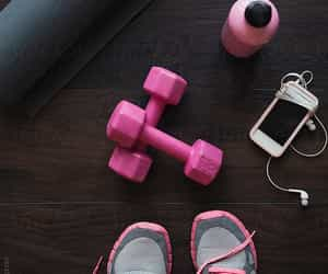 fitness, gym, and pink image