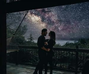 couple, stars, and night image