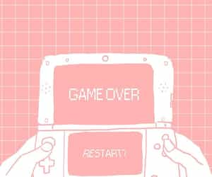 aesthetic, pink, and game over image