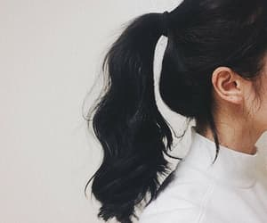 hair, aesthetic, and ponytail image